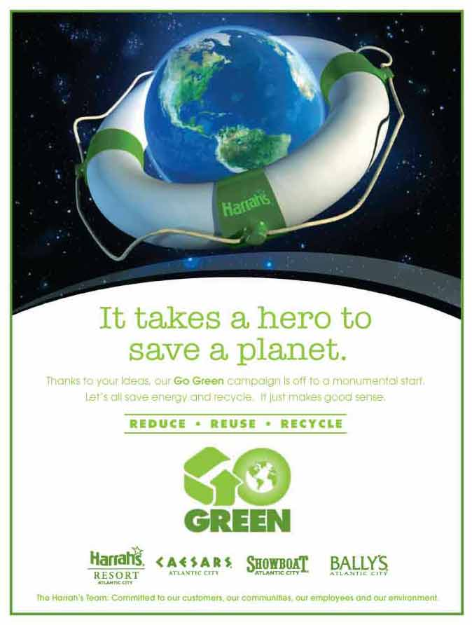 It Takes A Hero Go Green Campaign Atlantic City Dealer Facts